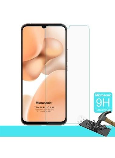 Microsonic Xiaomi Mi 10 Lite Tempered Glass Cam Ekran Koruyucu Renksiz